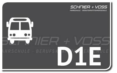 Kleiner Bus mit Anhänger - D1E